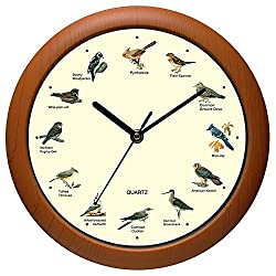 Belinlen Singing Bird Wall Clock 12 Inch of The Bird Names and Songs