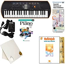 Homeschool Music - Learn to Play the Piano Pack (Hallelujah Songs of Inspiration Bundle) - Includes Casio SA76 Keyboard w/Adapter, learn 2 Play DVD/Book, Books & All Inclusive Learning Essentials