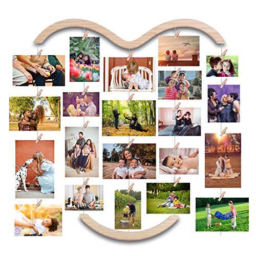 EASTERNSTAR Cadre Photo Mural Cadre Photo Pele Mele, Cadres Photo en Bois Suspendus Décor à la Maison, Cadeaux de Mariage d'anniversaire, De noël Décoration,etc.