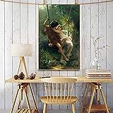 Carteles de primavera del pintor francés Pierre Auguste Cot impresos en lienzo arte de pared pintura famosa para decoración de sala de estar 29,7X42 cm sin marco