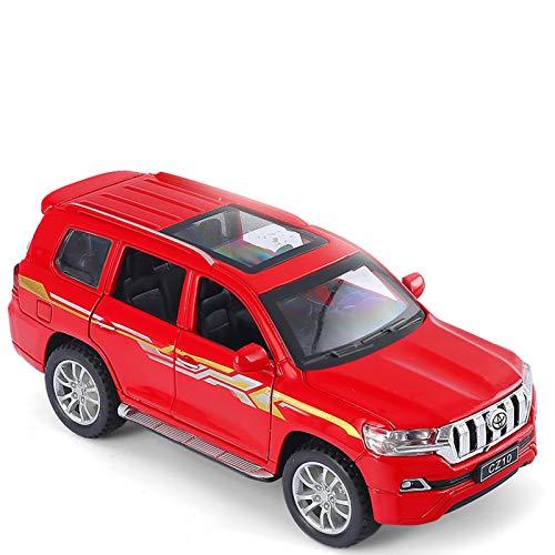 BWHM Modelo De Coche Famoso Coche De Juguete 1:32 para Toyota Land Cruiser Prado, Coche De Aleación De Juguete De Metal, Vehículos De Juguete, Modelo De Coche, 6 Puertas, Juguetes Abiertos para Niños