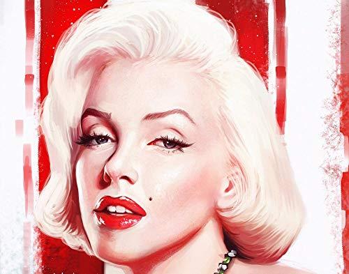 GUANGMANG Diy 5D Diamond Painting By Number Kits Full Drill Rhinestone Picture Arts Craft Para La Decoración De La Pared - Marilyn Monroe - 40X60 Cm