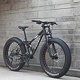 GASLIKE 26 Inch Mens Fat Tire Mountain Bike, Beach Snow Bikes, Double Disc Brake Cruiser Bicycle, Lightweight...