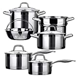 Duxtop Professional Stainless Steel Induction Cookware Set...