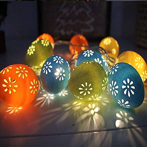 Tixiyu Easter Lights Easter Decorations 10/20/40 Eggs Led Festive Fairy Copper Wire Lights...