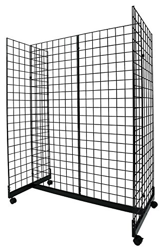 Black Grid Gondola Unit - Includes Base and Casters - Grid Unit 48