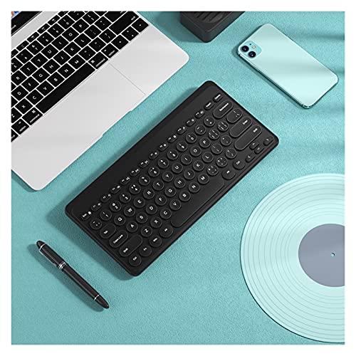 TYTG Accesorios para Laptop Mini Teclado inalámbrico USB, botón de Punk Retro Ergonómico Multimedia Teclado silencioso para Tableta, Escritorio, computadora portátil Accesorios de computador