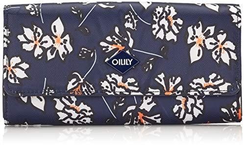 Oilily Damen Vivid Purse Lh12f Geldbörse, Blau (Blue-Black), 1x10x18 cm