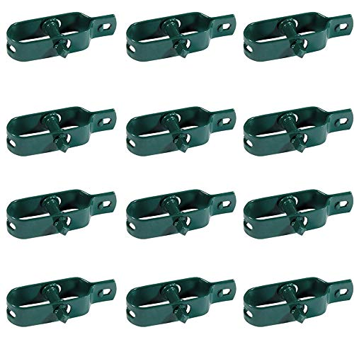 Kit 24x Tendifilo Plastificato Verde per Recinzione, Rete, Stendibiancheria, in Metallo da Giardino...