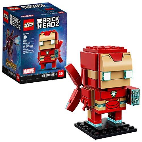 Lego brickheadz iron man mk50 41604 building kit (101 piece)