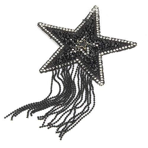 Apliques de diamantes de imitación, plástico, adhesivo para bricolaje, patrón de estrella,...
