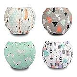 Flyish 4 Confezioni di Pantaloni da Allenamento per Neonati Intimo da Allenamento per Bambini Vasino Intimo da Allenamento per Pannolini