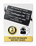 FastWagger 240w - Headlight Safety alternating flasher module electronic Wig Wag strobe controller relay - LED Incandescent Xenon Halogen HID Car Police Emergency Trucks 10A 12-24V 250FPM Stop-Alert