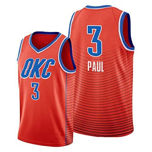 BAQIU #3 Paul Suns Basketball-Trainingstrikot für Männer und Frauen, Unterstützer-T-Shirt, Fan-Sweatshirt (S-2XL) M Orange