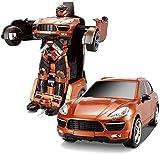, 4x4 rastreadores Un botón Deformación Robot, 2.4G Transformador Stunt Car ABS Robot de Juguete, 360deg;Rotación Drift Racing Camión articulado, de Carga en Movimiento del Mando a Distancia de Coche