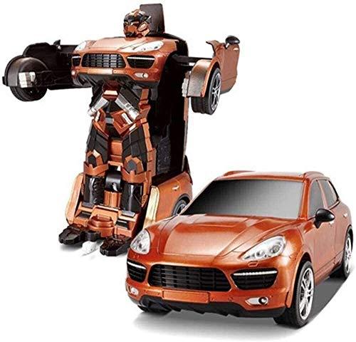 , Crawlers 4x4 Un Button Robot Deformation, 2.4G Transformateur Stunt Car ABS Robot Jouet, 360deg;Rotation Drift Racing Semi-remorque, charge mobile voiture télécommandée for les enfants Boy Gi fengon