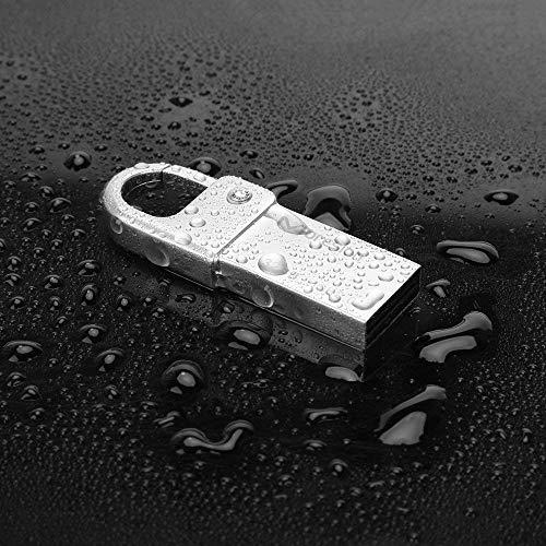 USB Stick 64GB USB3.0 Speicherstick Memory Stick mit Schlüsselanhänger Flash Drive Laufwerk Metall Wasserdichter Karabiner Karabinerverschluss