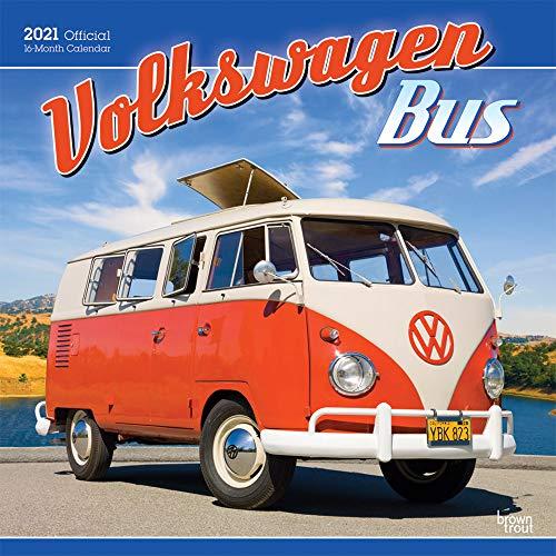 Volkswagen Bus 2021 12 x 12 Inch Monthly Square Wall Calendar, German Motor Car