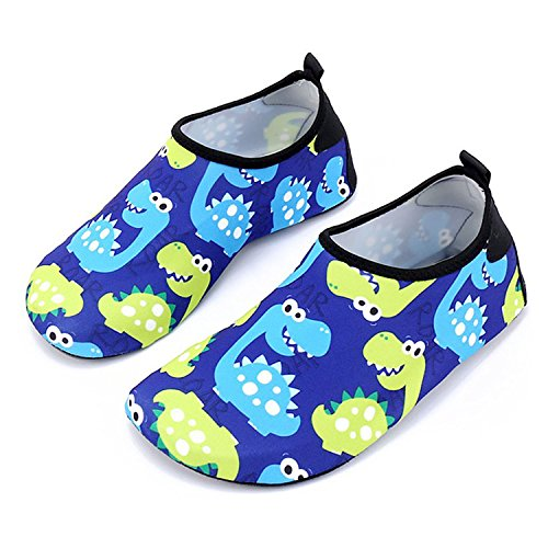Bmeigo Kinder Wasser Schuhe Badeschuhe Barfuß Aqua Haut Socken Mädchen Jungen Watschuhe Strand Schwimmbad Schwimmen Tauchen Surf Yoga Hallenschuhe Aquaschuhe