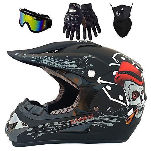 Juego de casco de esqueleto Downhill para bicicleta de montaña, casco de...
