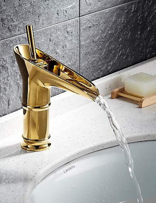 Mainstream home LPZSQ Tap Ti-PVD Finish Solid Brass Bathroom Sink Faucet  271