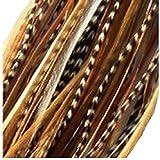 Sexy Extensiones de Pelo de plumas de Sparkles 6plumas 4'-7Natural Mezcla jengibre con y Grizzly para Extension