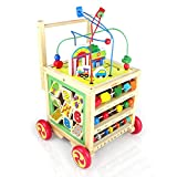 Nuheby Baby Walker Wooden Activity Toddler Toys Multifunction First Steps Educational Toys 1