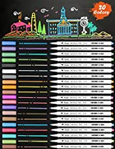 New 20 Assorted Color Metallic Marker Pens, Sheen Glitter Painting Pen Card Making,Birthday Greeting, DIY Photo Album,Scrap booking,Rock Painting,Mug,Calligraphy,Valentine's Day Cards (Fine Tip(Hard))