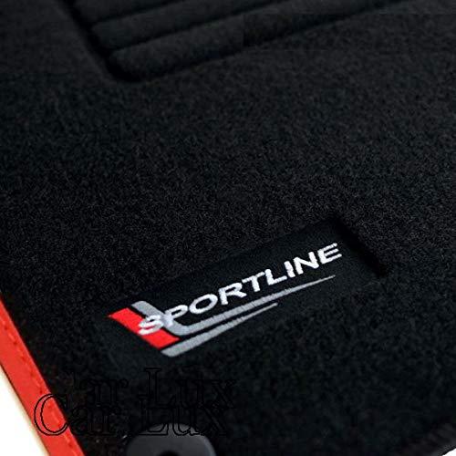 Car Lux - AR03400 - Tapis sur mesure A3 8P AVS Edition Vlour Bordure rouge