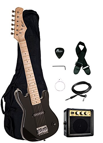 30' Kids 1/2 Size ULTIMATE Electric Guitar Package with 3W...