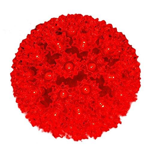Novelty Lights 100 Light Outdoor Christmas LED Starlight Sphere, Red, 7.5' Diameter