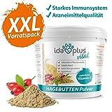 Ida Plus – Hagebuttenpulver 1Kg XXL Packung (besonders ergiebig) – in Arzneimittelqualität – mit hohem Gehalt an Vitamin C EIN für Starkes Immunsystem – Barf geeignet – Superfood - 100% natürlich