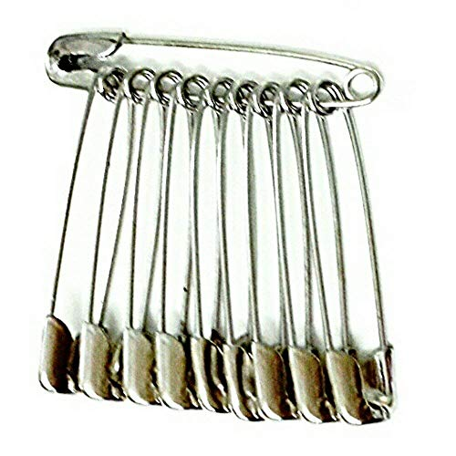advancedestore Safety Pins for Saree, Dupatta Attaching Pins for Women and Girls Pack of 12 Safety pin.