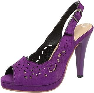 Zanpa Women Fashion Stiletto Heels Peep Toe Pumps