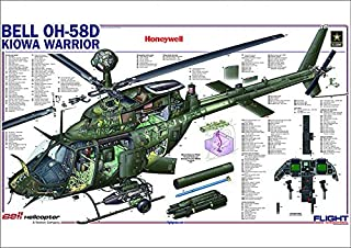 Media Storehouse A1 Poster of Bell OH-58D Kiowa Warrior Cutaway Poster (4228677)