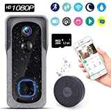 Video Doorbell with Chime【2020 Upgraded Version】, Compatible with Amazon Alexa and Google Home