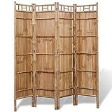 Festnight- Paravents de Chambre à Coucher à 4 Panneaux Bambou