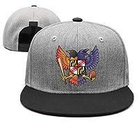 ZYNEW Birdland Baltimore Raven and Oriole Maryland Unisex Casual Hip hop Baseball Cap Low Profile Snapback hat Sport Cap, Black-12, One Size