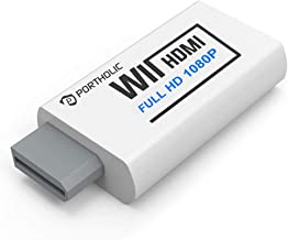 PORTHOLIC Wii to HDMI Converter 1080P for Full HD Device,...