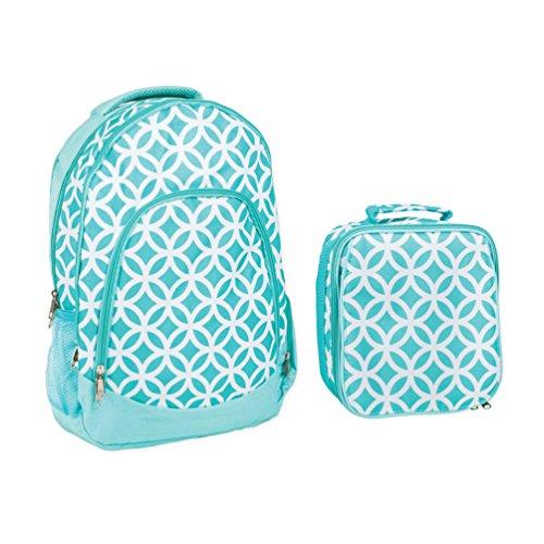 Reforzado Resistente al agua mochila escolar y bolsa para almuerzo conjunto