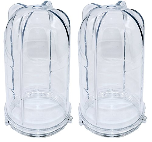 Blendin 2 Pack Replacement 16 Ounce Tall Jar Cups, Compatible with Original Magic Bullet Blender Juicer 250W MB1001