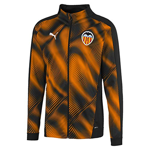 Puma Vcf Stadium - Chaqueta para hombre, color Puma Black-vibrante Naranja, tamaño X-Small