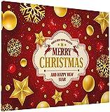 JIANSHAN Lienzo decorativo para pared, diseño de estrellas, copos de nieve, color rojo, amapola, primavera, césped, decoración moderna para el hogar, 40,6 x 50,8 cm
