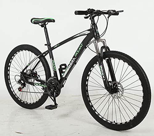 SHUI Mountain Bike, Full Dual Suspension, 26,27.5-Inch Wheels green-26 in