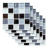 Pegatinas de Azulejos Autoadhesivos,Liwein 30 pcs Decorativos Adhesivos para Azulejos Pegatina de Pared Mosaicos Pegatinas de Baldosas Decorativo para Azulejos de baño y Cocina 20×20cm (Mosaicos)
