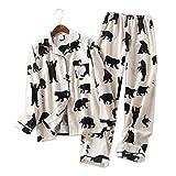 IHCIAIX Pijama de Verano para Mujer, Fashion Stars 100% algodón Pijamas Conjuntos Hombres Ropa de Dormir otoño Invierno Casual Acogedor Pijamas Pijama Hombres Simples Dibujos Animados Conjuntos d