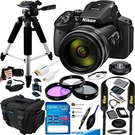 Nikon COOLPIX P900 Digital Camera with 83x Optical Zoom and Built-in Wi-Fi(Black) - Essential Accessories Bundle