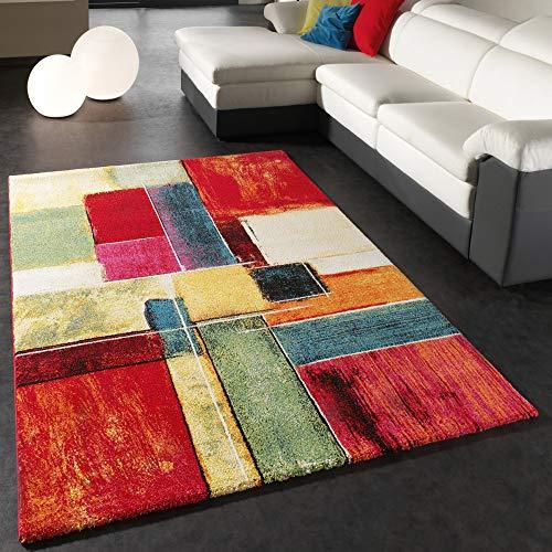 Teppich Modern Splash Designer Teppich Bunt Karo Model Neu OVP, Grösse:80x150 cm