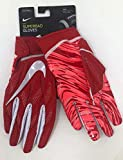 Nike Men's Superbad Sticky Magnigrip Receiver Football Gloves PGF938-663 - Red/White Front Red/Pink Back - XXL