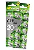 GP LR44/A76 1.5V Alkaline Button Battery (Box of 20)